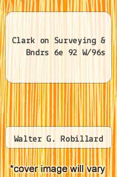 Cover of Clark on Surveying & Bndrs 6e 92 W/96s EDITIONDESC (ISBN 978-1558340220)