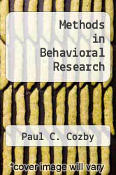 Cover of Methods in Behavioral Research 5 (ISBN 978-1559340991)