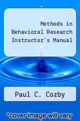 Cover of Methods in Behavioral Research Instructor