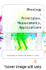 cover of Rheology : Principles, Measurements, Applications