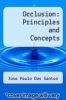 cover of Occlusion: Principles and Concepts (2nd edition)