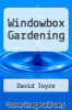 cover of Windowbox Gardening (1st edition)