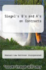 cover of Siegel`s Q`s and A`s on Contracts