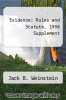 cover of Evidence : Rules and Statute, 1998 Supplement (1st edition)