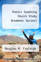 Cover of Public Speaking (Quick Study Academic Series) EDITIONDESC (ISBN 978-1572221338)