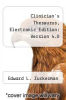 cover of Clinician`s Thesaurus, Electronic Edition: Version 4.0 (4th edition)