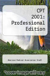 Cover of CPT 2001: Professional Edition EDITIONDESC (ISBN 978-1579471088)