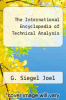 cover of The International Encyclopedia of Technical Analysis