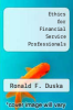 cover of Ethics for Financial Service Professionals