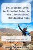 cover of IRC Extendex 2003: An Extended Index to the International Residential Code