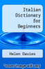 cover of Italian Dictionary for Beginners