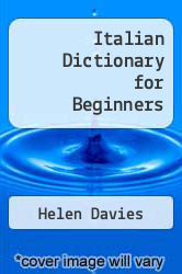 Cover of Italian Dictionary for Beginners EDITIONDESC (ISBN 978-1580865555)