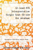 cover of 12-Lead ECG Interpretation Single Seat CD-rom for Windows (2nd edition)