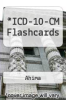 cover of ICD-10-CM Flashcards