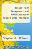 cover of Design Firm Management and Administration Report 2001 Yearbook