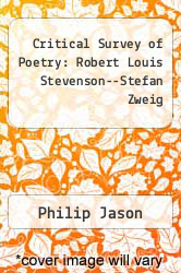 Cover of Critical Survey of Poetry: Robert Louis Stevenson--Stefan Zweig 2 (ISBN 978-1587650789)