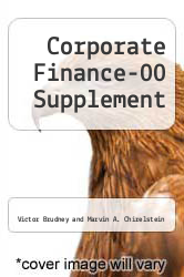 Cover of Corporate Finance-00 Supplement 00 (ISBN 978-1587780431)