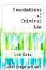 cover of Foundations of Criminal Law (2nd edition)