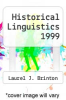 cover of Historical Linguistics 1999