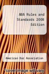 Cover of ABA Rules and Standards 2008 Edition 08 (ISBN 978-1590318409)