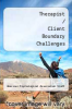 cover of Therapist / Client Boundary Challenges