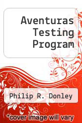 Cover of Aventuras Testing Program EDITIONDESC (ISBN 978-1593340124)