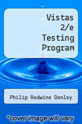 Cover of Vistas 2/e Testing Program 2 (ISBN 978-1593343781)