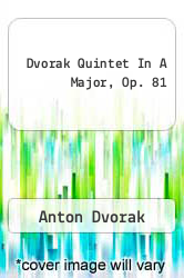 Cover of Dvorak Quintet In A Major, Op. 81 EDITIONDESC (ISBN 978-1596150348)