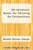 cover of 250 Optimistic Quotes for Achieving the Extraordinary