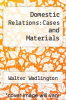 cover of Domestic Relations:Cases and Materials (6th edition)