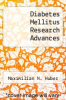 cover of Diabetes Mellitus Research Advances