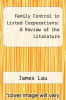 cover of Family Control in Listed Corporations: A Review of the Literature