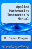 cover of Applied Mathematics Instructor`s Manual