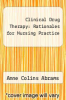 cover of Clinical Drug Therapy : Rationales for Nursing Practice