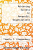 cover of Achieving Success in Nonprofit Organizations