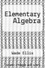 cover of Elementary Algebra