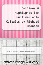 Cover of Outlines & Highlights for Multivariable Calculus by Richard Bronson EDITIONDESC (ISBN 978-1616989477)