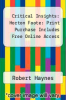 cover of Critical Insights: Horton Foote: Print Purchase Includes Free Online Access