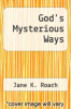 cover of God`s Mysterious Ways