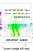 cover of Constitutional Law, Cases and Materials - CasebookPlus (14th edition)