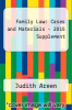 cover of 2015 Supplement to Family Law, Cases and Materials, Unabridged and Concise 6th Editions (6th edition)