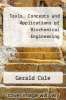cover of Tools, Concepts and Applications of Biochemical Engineering
