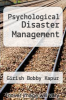 cover of Psychological Disaster Management