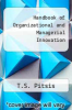 cover of Handbook of Organizational and Managerial Innovation