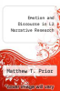 cover of Emotion and Discourse in L2 Narrative Research