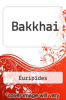 cover of Bakkhai