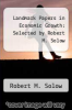 cover of Landmark Papers in Economic Growth: Selected by Robert M. Solow