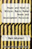 cover of Power and Need in Africa : Basic Human Needs and Development Policies
