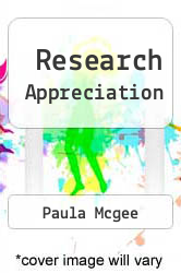 Cover of Research Appreciation EDITIONDESC (ISBN 978-1856420266)