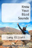 cover of Know Your Bird Sounds (2nd edition)